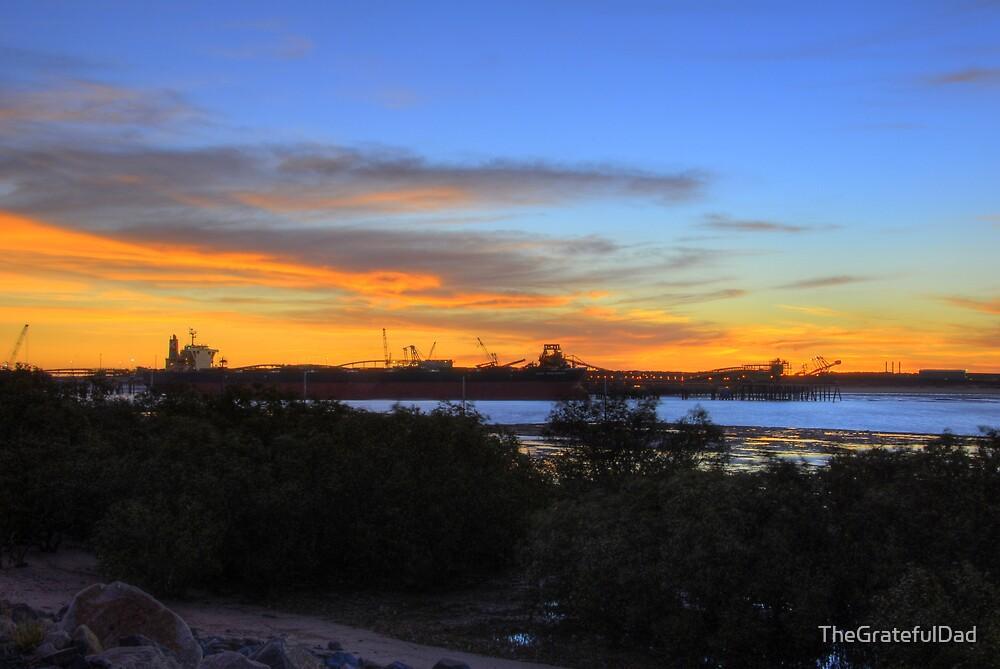 Downtown Port Hedland Sunset by TheGratefulDad