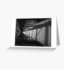 Flipped Bridge Greeting Card