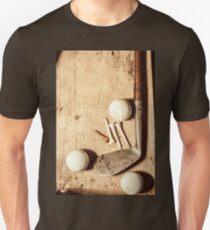 Rustic golf club memorabilia Unisex T-Shirt
