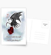 Salt Bat Valentine's Card Postcards