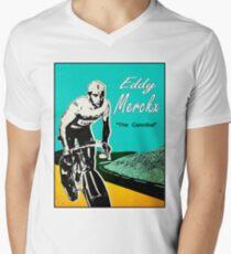 e3adb7865 EDDY MERCKX  Vintage The Cannibal Racing Poster Men s V-Neck T-Shirt