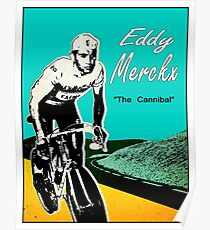 EDDY MERCKX; Vintage The Cannibal Racing Poster Poster