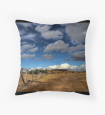 Home is just up the track Throw Pillow