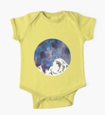 Half Dome Mountain Watercolor One Piece - Short Sleeve