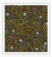 Dancing Skeletons Pattern Sticker