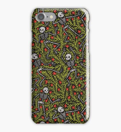 Dancing Skeletons Pattern iPhone Case/Skin