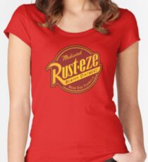 Rust-eze Medicated Bumper Ointment Women's Fitted Scoop T-Shirt