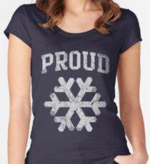 Proud Snowflake  Women's Fitted Scoop T-Shirt