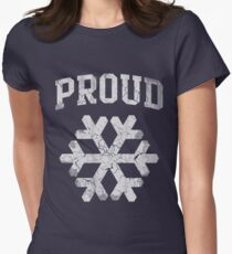 Proud Snowflake  Womens Fitted T-Shirt