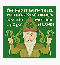 Funny Saint Patrick's Day Snakes Joke Irish Photographic Print