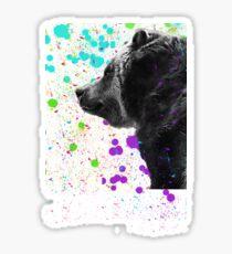 Bear in a Snowstorm 2 Sticker