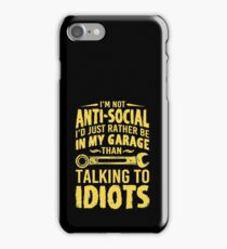Talking to idiots iPhone Case/Skin