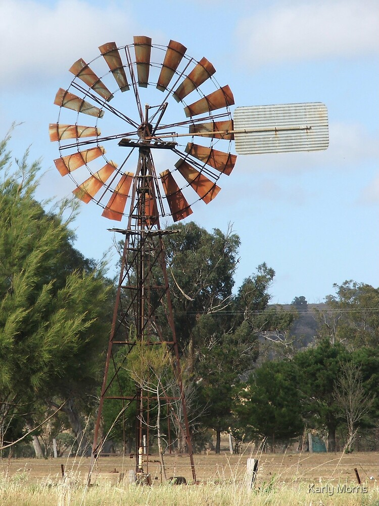 Windmill in Paddock by Karly Morris