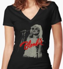 blondie - icon punk Women's Fitted V-Neck T-Shirt
