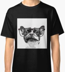 Reputable French Bulldog with Glasses Classic T-Shirt