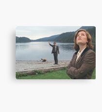 Mulder and Scully - The X-Files Canvas Print