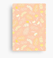 Spring Pattern pink and yellow Canvas Print