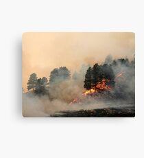 West Range Fire Canvas Print