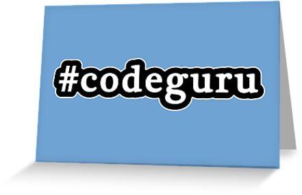 Code Guru - Hashtag - Black & White by graphix