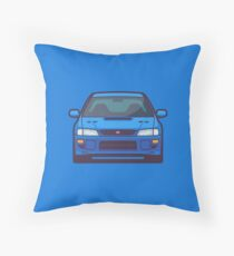 Subaru Impreza WRX STI 1st Gen (Blue) Throw Pillow