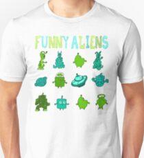 Kid-Drawn Funny Aliens Kids Unisex T-Shirt