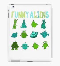 Kid-Drawn Funny Aliens Kids iPad Case/Skin