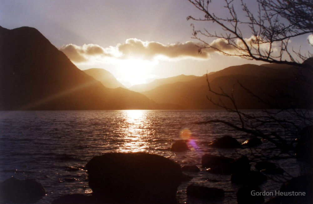 Ullswater Sunset by Gordon Hewstone