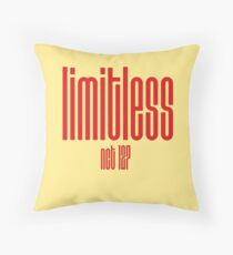 NCT - Limitless, logo | Red on Yellow (& White) Throw Pillow