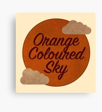 Orange Coloured Sky Canvas Print