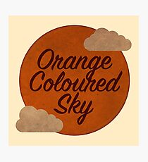Orange Coloured Sky Photographic Print