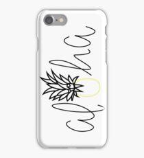 Aloha Pineapple Sticker, Hawaiian, Tropical, Lettering, Simple Sticker, Hello, Good Vibes iPhone Case/Skin