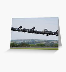 In Line Astern Greeting Card
