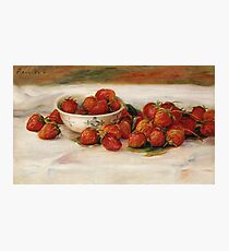 Auguste Renoir - Strawberries Photographic Print
