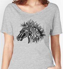 Tribal Horse Cool Vector Art Women's Relaxed Fit T-Shirt