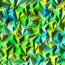 Green,blue broken tiles by RosiLorz