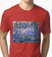 Claude Monet - Water Lilies Tri-blend T-Shirt