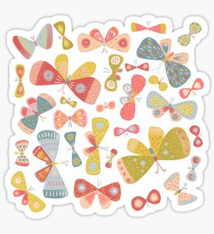 Butterfly Tango on White Sticker