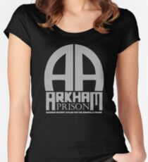 Arkham Prison Women's Fitted Scoop T-Shirt