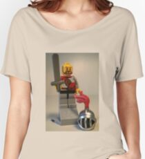 'Lion Knight Quarters' Minifig Women's Relaxed Fit T-Shirt
