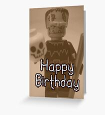 Happy Birthday Frankensteins Monster Custom Minifig Greeting Card