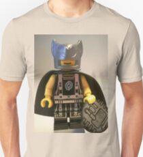 Captain Vortex in Black & Silver Costume and Cape T-Shirt