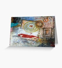 Square Peg, Round Hole Greeting Card
