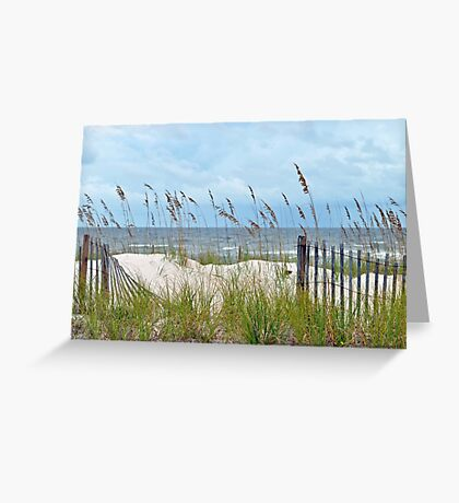Storm Fence Greeting Card