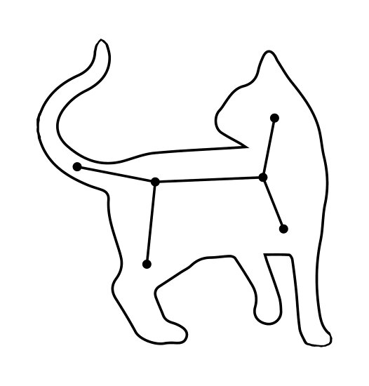 cat constellation by GrumpyMonkey