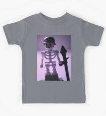 Skeleton Army Custom Minifigure Helmet & Bazooka Kids Tee
