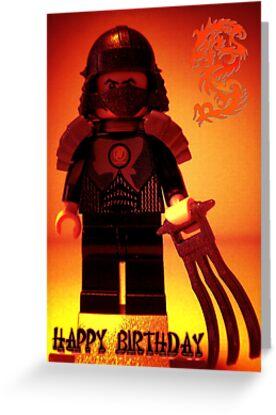 Happy Birthday Greeting Card TMNT Teenage Mutant Ninja Turtles Master Shredder Custom Minifig by Customize My Minifig