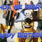 """""""Happy Birthday"""" Pirate Captain Birthday Greeting Card by Customize My Minifig"""