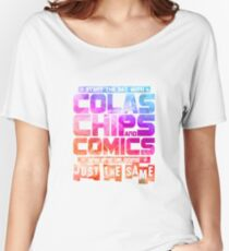 Colas Chips and Comics - Comic Books Women's Relaxed Fit T-Shirt
