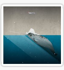 The lonely Narwhal Sticker