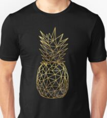 Modern geometric gold pineapples design T-Shirt